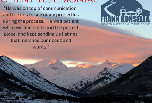 Gunnison real estate testimonial