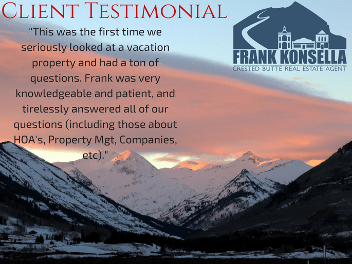 Realtor review crested butte investment vacation property