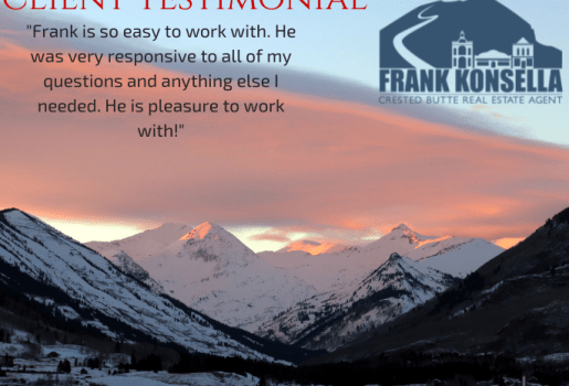 crested butte real estate agent testimonial