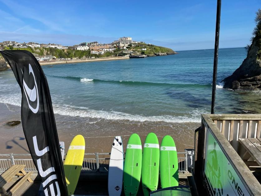 Surf School on Towan Beach
