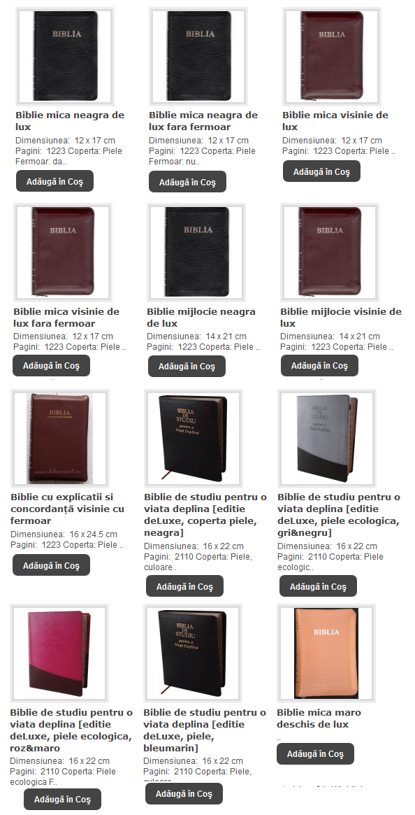 OK - BIBLII DE LUX