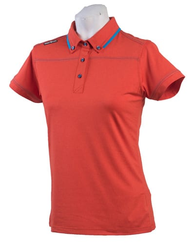 Ladies Polo 80515 Red Orange/Blue