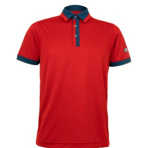 Mens Polo 80380935 in Red/Dark Green
