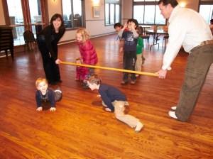 Crestmont Children Playing Limbo Game