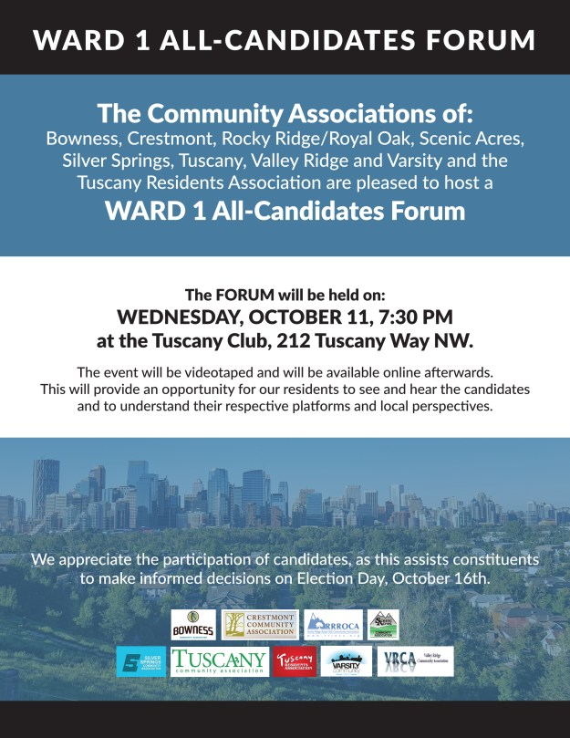 WARD 1 ALL-CANDIDATES FORUM