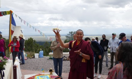 New stupa honoring Khenpo Karthar Rinpoche at Tashi Gomang Stupa