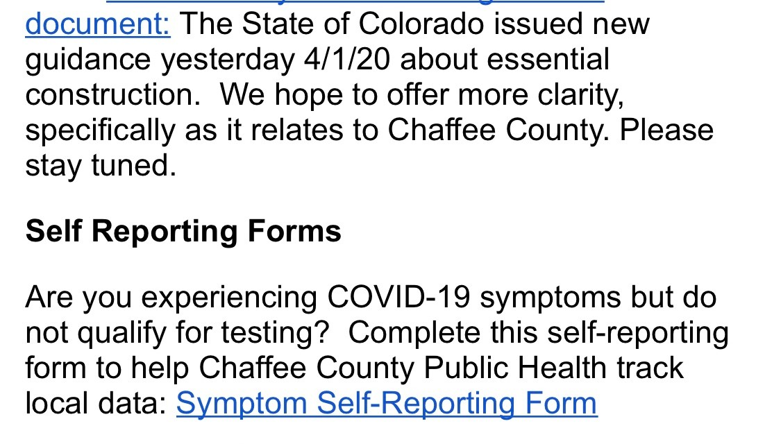 Chaffee County Update