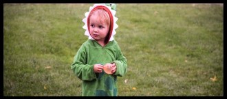 Banner photo of a little boy dressed in a Halloween costume.