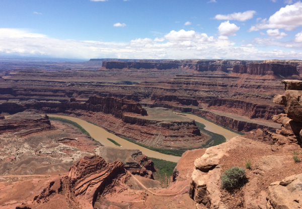 Photo of meandering stream in Moab, taken during the men's retreat.