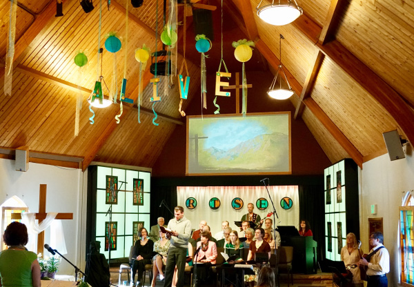Photo of Easter Sunday service, 2016.