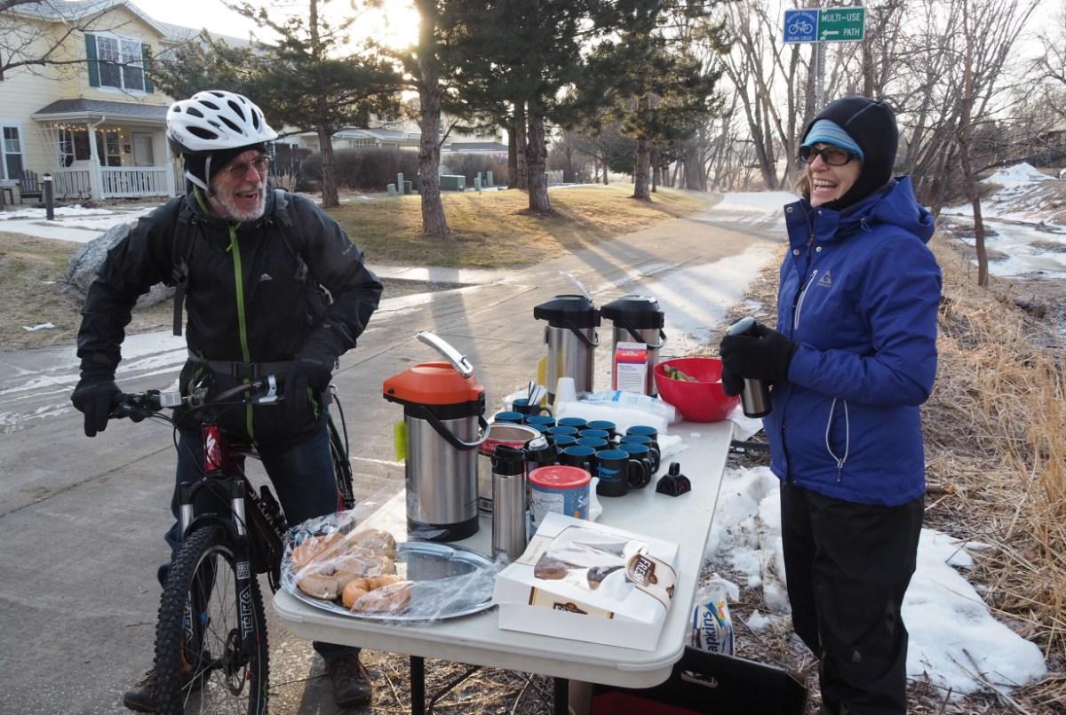 Photo of Winter Bike to Work Day, 2017.