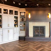 Fireplace Display with Contrasting Accent
