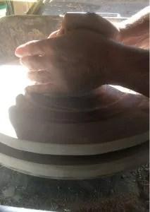 Centratura blocco di argilla