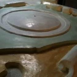 Particolare orologio in marmorino