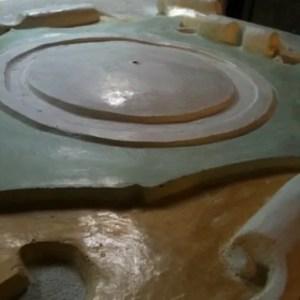 Particolare orologio in marmorino foto grande