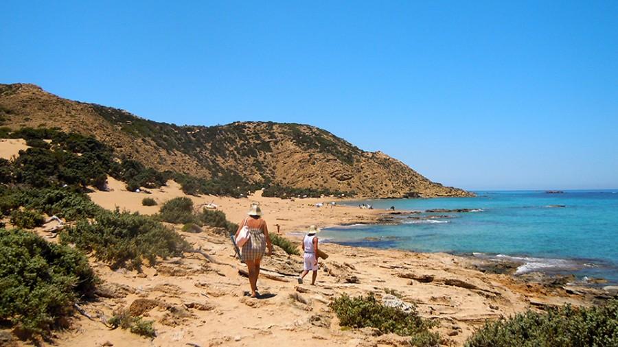 Ai Giannis Gavdos Island The White Sand Of Ai Giannis
