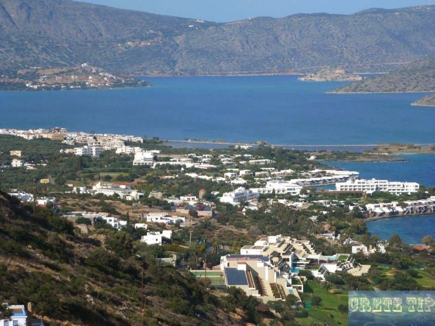 Panoramic view of Elounda
