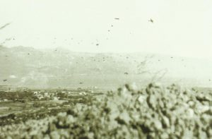 German paratroopers dropping from their transport planes over Maleme