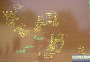 Overview Map of archaeological site at the Palace of Malia.