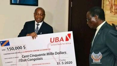 Photo of Lutter contre le COVID-19 : United Bank for Africa (UBA) remet un chèque pour la riposte contre la pandémie du Coranavirus