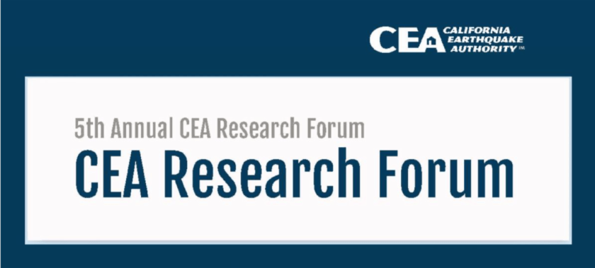 Banner and logo: California Earthquake Authority, 5th Annual CEA Research Forum