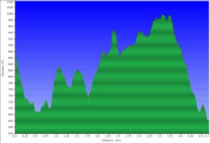 Elevation for July 1st Hike