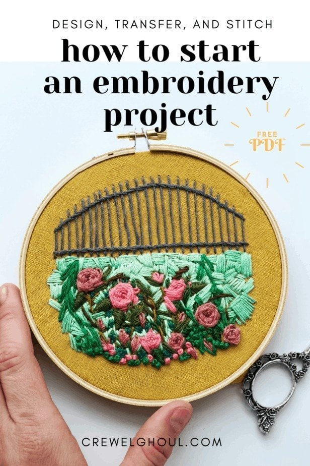 how to start an embroidery project