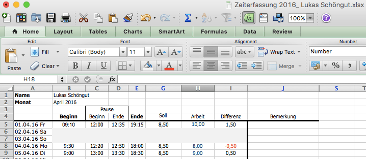 Excel Zeiterfassung Vorteile Und Nachteile