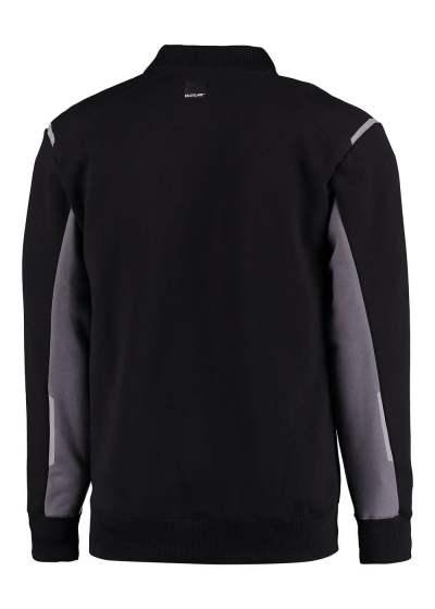 Polosweater zwart met grijs met lange mouwen