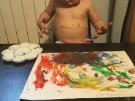 Tardes en casa - Pintando con pintura de dedos