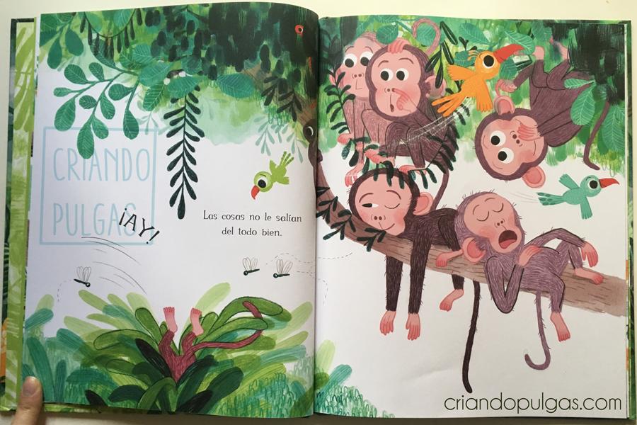 Pequeña en la jungla - diseño de personaje - páginas 7 y 8