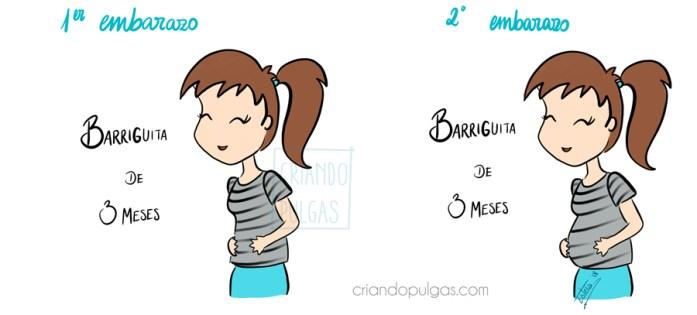 diferencias entre primer y segundo embarazo - aparición de la barriga