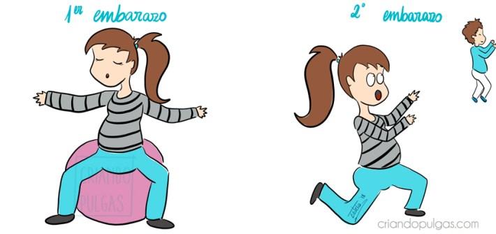 diferencias primer y segundo embarazo - ejercicios preparto