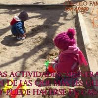 El arenero y sus beneficios en el desarrollo del niño