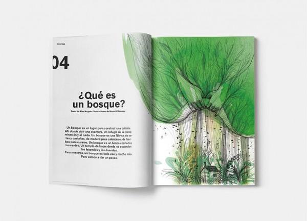 Página de la revista Pantera Magazine sobre los bosques