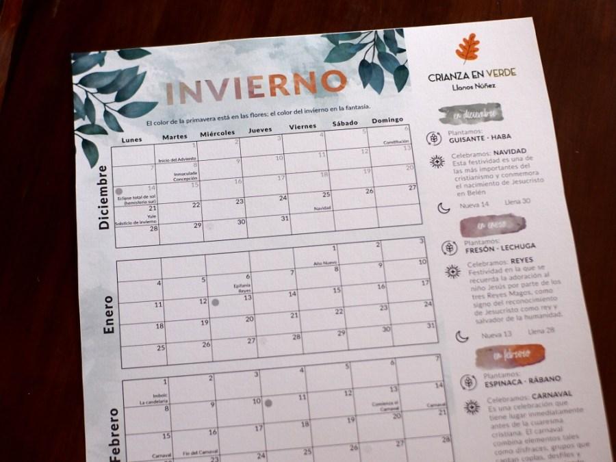 Foto del calendario/planificador de invierno