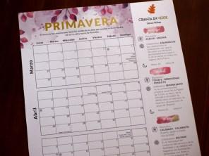 Foto del calendario/planificador de primavera