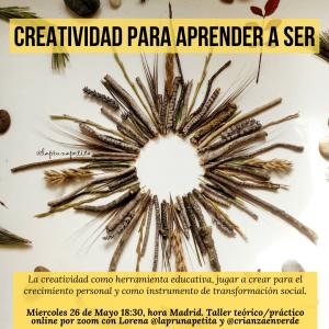 Cartel del taller con Lorena de @laprunapetita La pruna petita