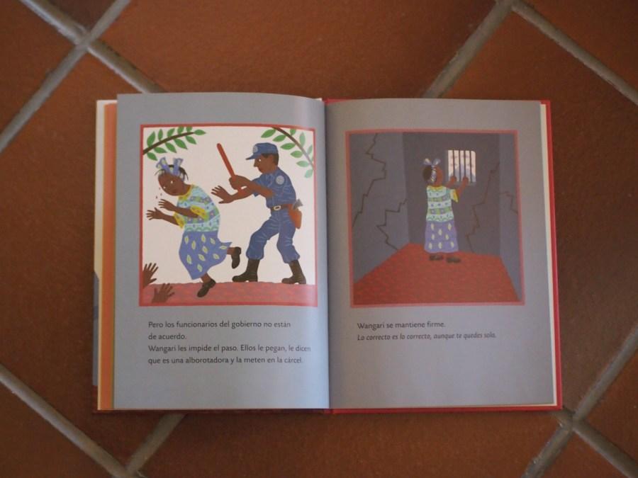 Página del libroWangari y los arboles de la paz