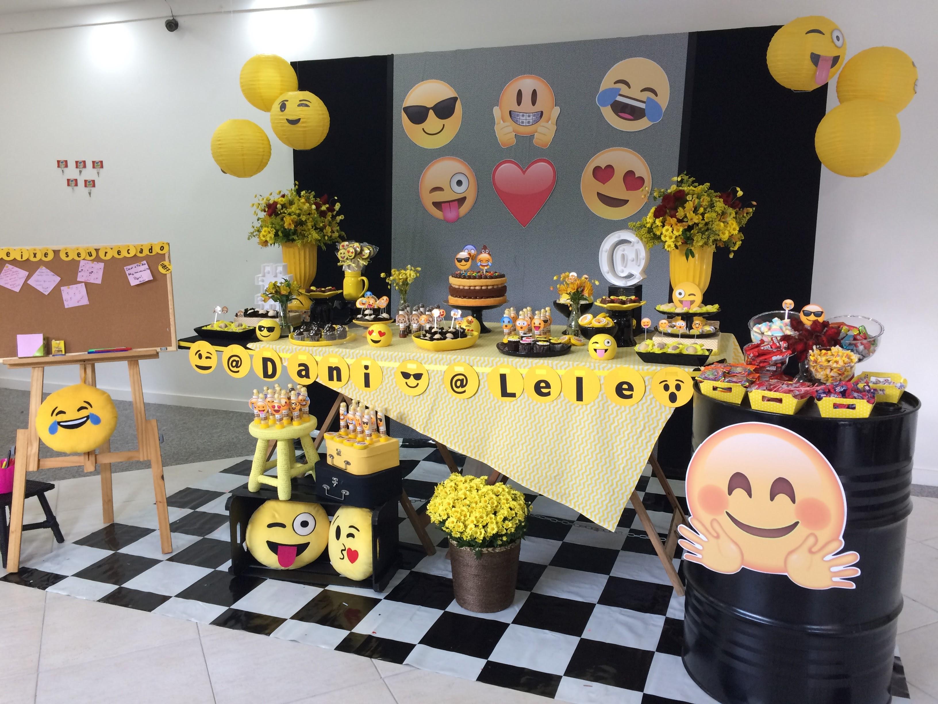 Festa Emoji u2013 Criaré Coisa Séria -> Decoracao De Festa Tema Emoji