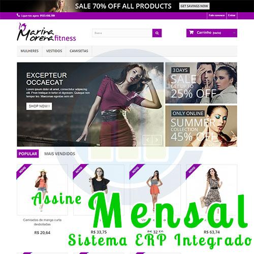 Loja Virtual Completa Com Sistema ERP - Plano Mensal