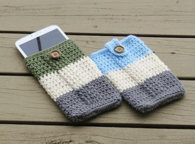 Crochet free pattern mobile phone protection