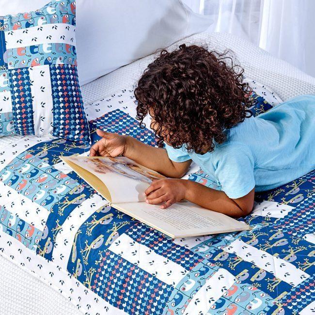 Trosko Sloth Kids Quilt & Cushion pattern