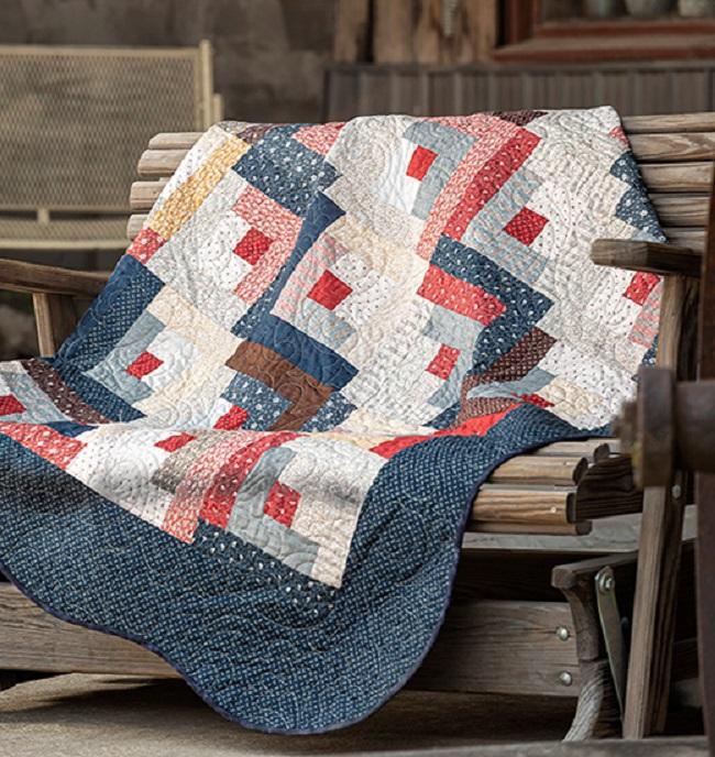 Simple Log Cabin Quilt pattern