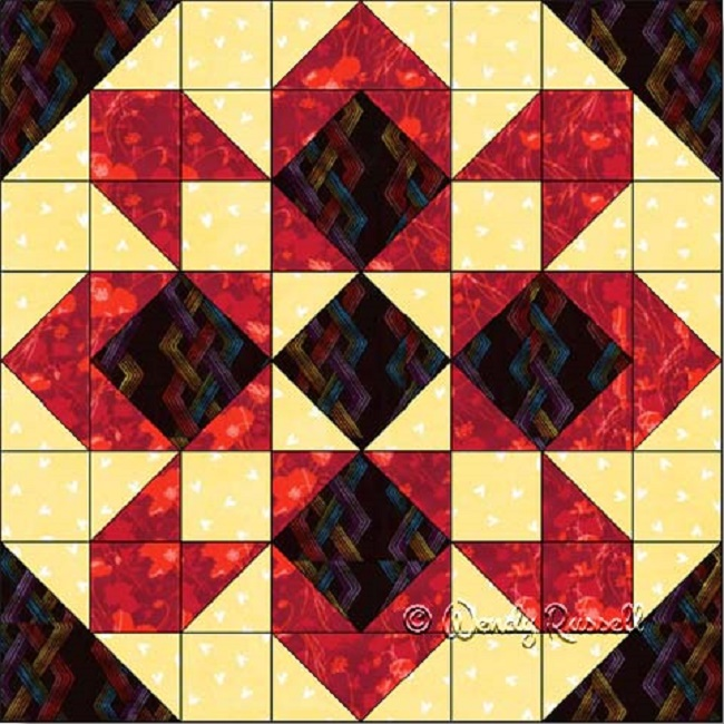 Starglow Quilt Block Quilt