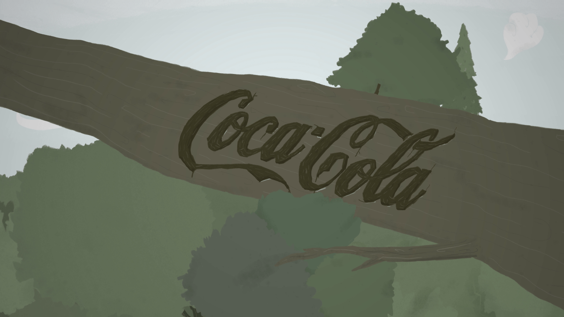 Make Believe -  Coca Cola logo type