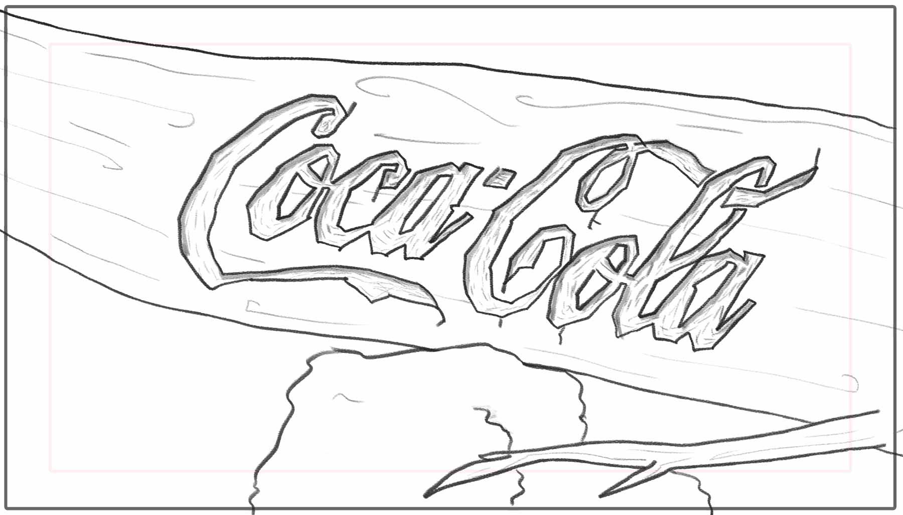 Make Believe — Storyboard frame — Coca Cola test type
