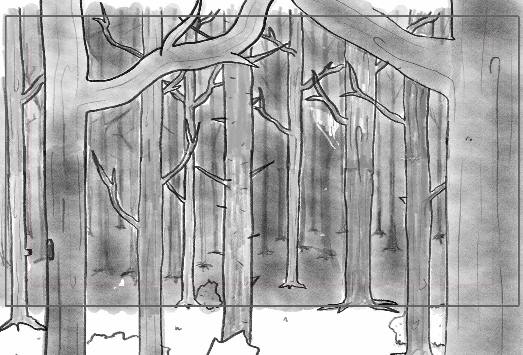 Make Believe — Storyboard frame — Dead Forest