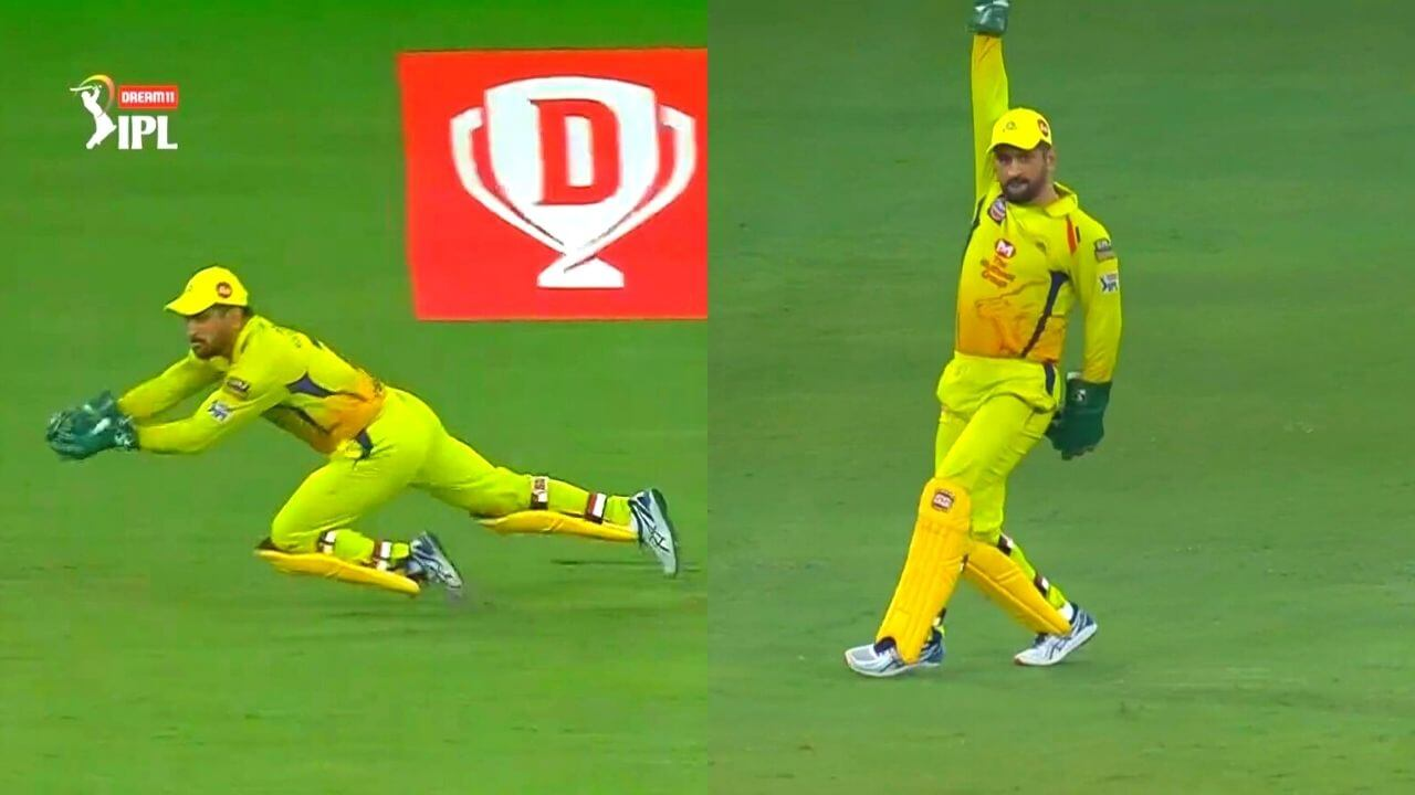 IPL 2020 - CSK captain MS Dhoni completed 100 catches in IPL - CricAngel