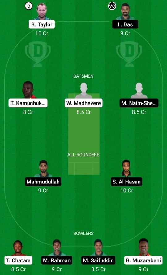 ZIM vs BAN 1st ODI Dream11 Prediction Possible Playing 11 Pitch Report | ZIM vs BAN 1st ODI Dream11 Prediction Today | Zimbabwe vs Bangladesh 1st ODI Key Players | Harare Pitch Report